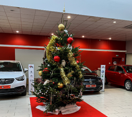 Sapin de Noël concession Autosybel Bayonne